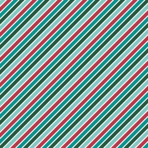 Festive Diagonal Stripes (Multi)