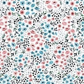 Ditsy Spring Watercolor Flower V.01