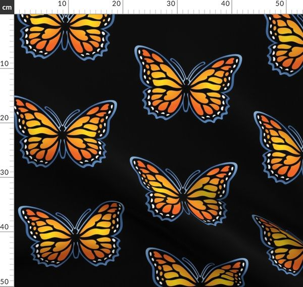 Monarch Butterfly For Dark Backgrounds 2 Spoonflower