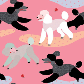 Poodles in the Park PINK by Mount Vic and Me