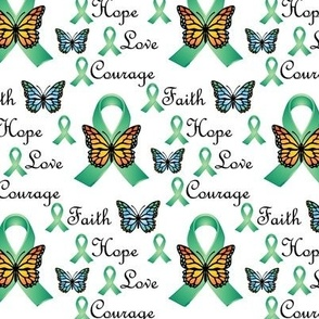 Green Ribbon Faith Hope Love Courage
