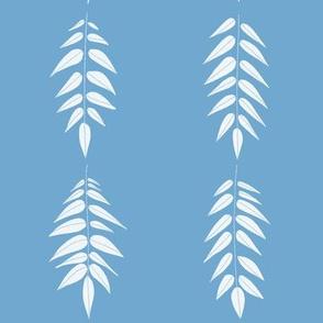 Ferns in Blue