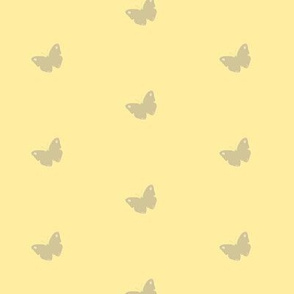 Gray Butterflies in Lemon Yellow