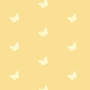 Butterflies in Butter Yellow