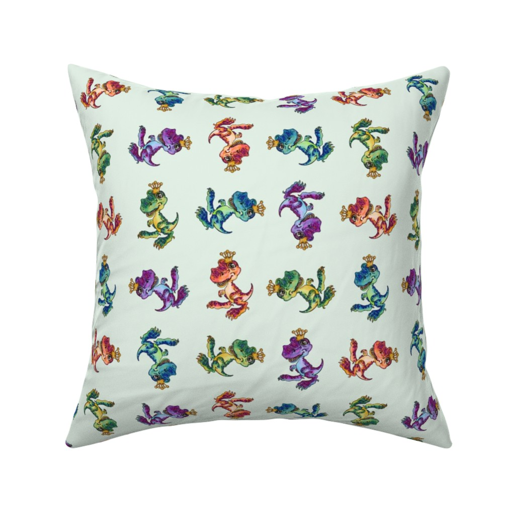 Catalan Throw Pillow featuring King of the Dinosaurs by ArtfulFreddy by artfulfreddy