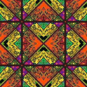 vintage lily grid