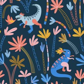 Dino in jungle