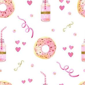 Birthday Donuts on white