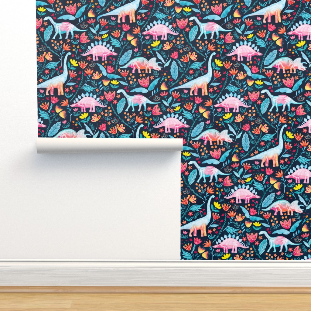 Isobar Durable Wallpaper featuring Dinosaur Delight by gingerlique