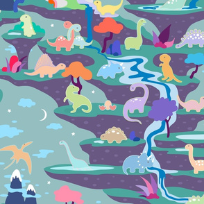 Peaceful Time in Fantastic Dino Land