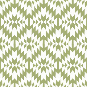 Green and White Tribal