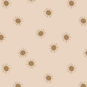 hand drawn sun - dusty blush