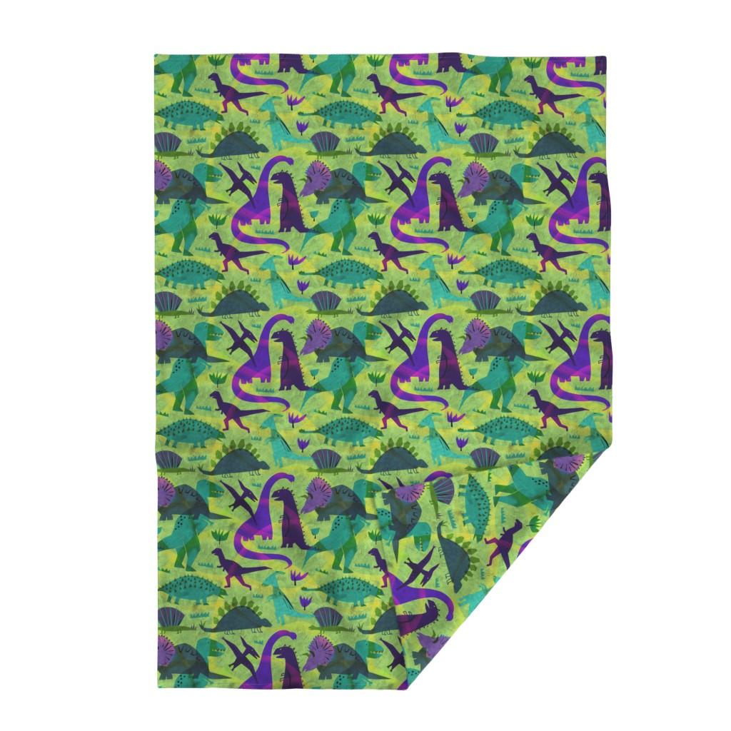 Lakenvelder Throw Blanket featuring dinosaur world by karismithdesigns