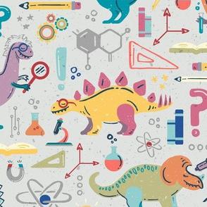 Dinosaur Scientists //  © ZirkusDesign STEM-o-saurs // Dino Einsteins // T-Rex, Stegosaurus, Triceratops, Pterodactyl, Spinosaurus, Tyrannosaurus // Paleontology, Chemistry, Physics, Math, Algebra, Calculus, Astronomy, Biology, Anatomy, Axes, Axis, Magnet