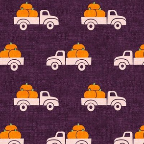 fall trucks - pumpkin - plum - LAD19