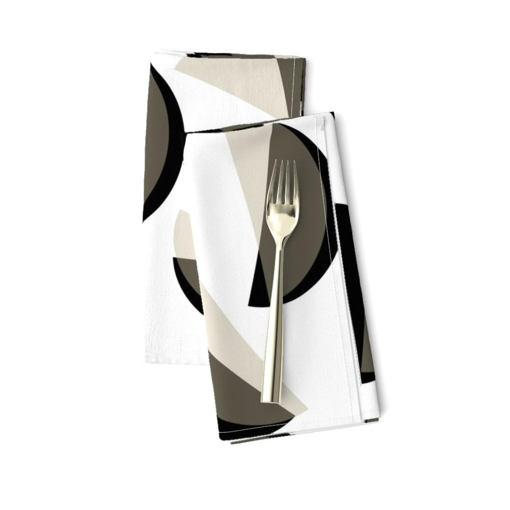 Amarela Dinner Napkins featuring semicircle_black-white_gray by wren_leyland