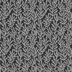 black and white small scale leaves