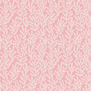 Small scale leaves on pink ground
