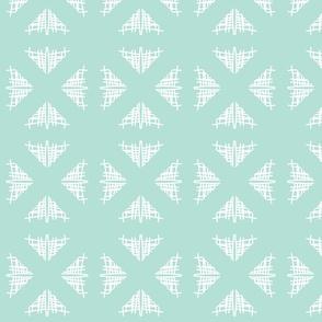 Gracy abstract Lattice-Seafoam