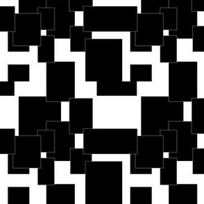 Black Squares in QR