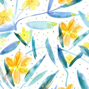 Midsummer bloom • watercolor floral pattern