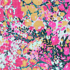 Expressive Floral - Rose and Mustard
