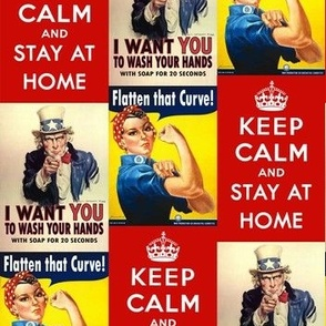 Keep Calm, Flatten the Curve, Wash Your Hands