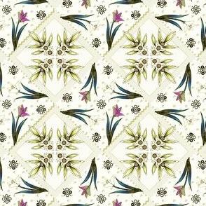 delft lace polychrome olive