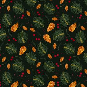 Golden Pine Cones_Iveta Abolina