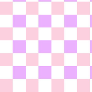Checkered Purple and Pink