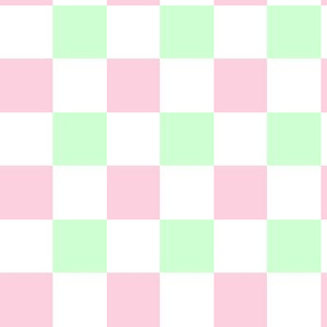 Checkered Pink Green White