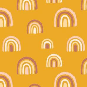 Rainbows mustard yellow