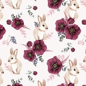 Watercolor Bunny SMALL