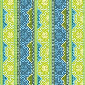 Spring square pattern