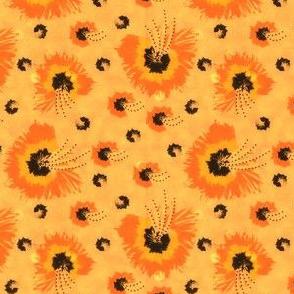 Fiori Arancioni.Fiori Arancioni Spoonflower