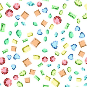 Fashion crystal diamond jewelry pattern.
