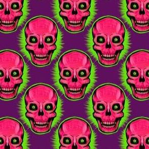 Medium Vintage Skull (on purple)