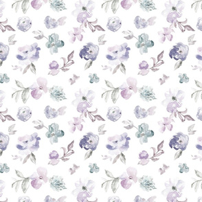 Muted Navy Floral Pattern