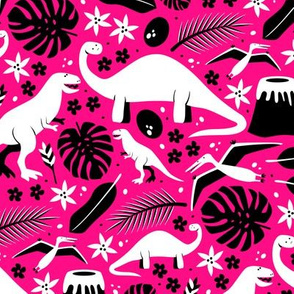 Dino-roar! (Pink and White)