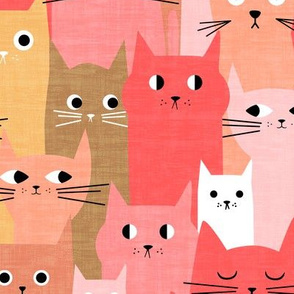 Silly Cats - Pink