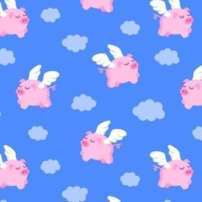 Flying Pigs Dark Blue