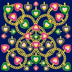 Golden Chains and Jewelry Pattern