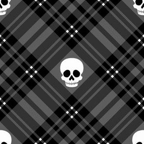 Skull Tartan Plaid in Black