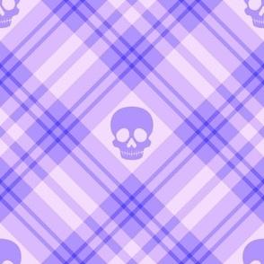 Skull Tartan Plaid in Purple