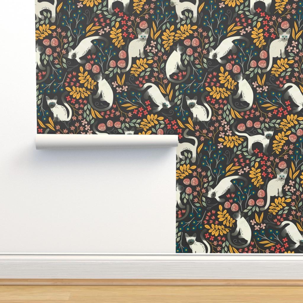 Isobar Durable Wallpaper featuring Siamese Garden by amy_maccready