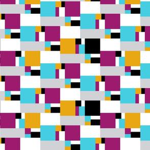 color block golden ratio double step large 2d