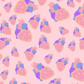 poptart heart pink