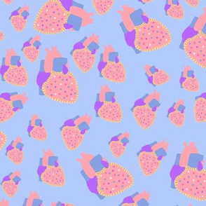 poptart heart  blue