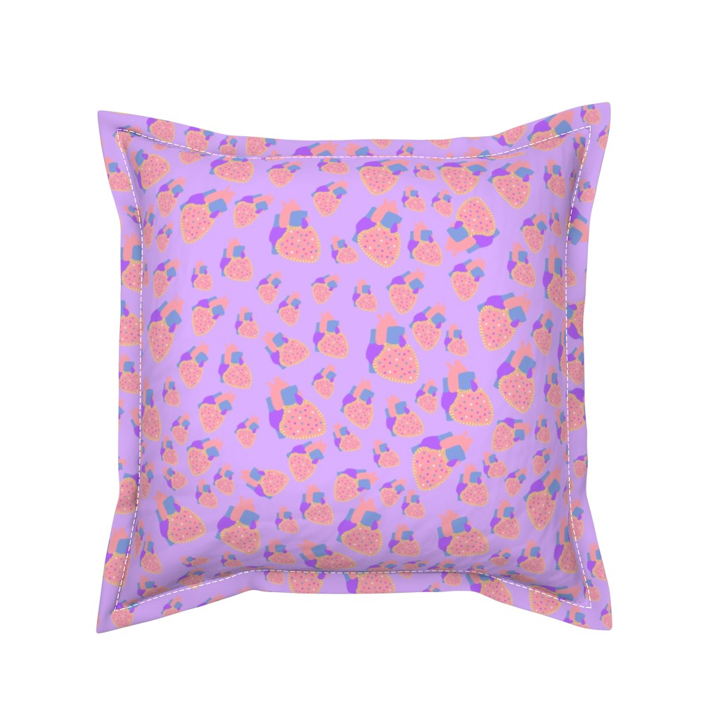 Serama Throw Pillow featuring poptart heart purple by aspie_giraffe