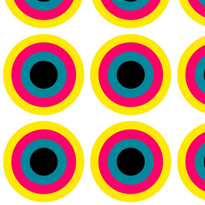 Pop Art Style Circles